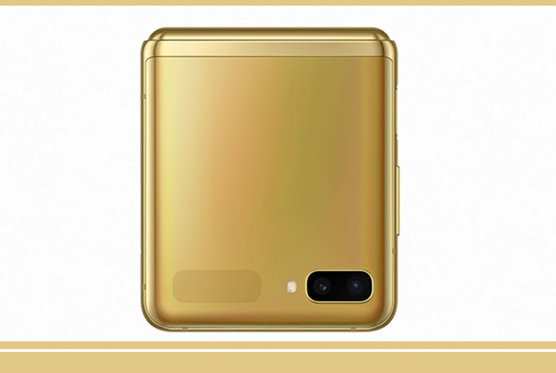 Galaxy Z Flip in Mirror Gold Colour