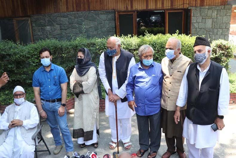 Modis meeting with J&K leaders